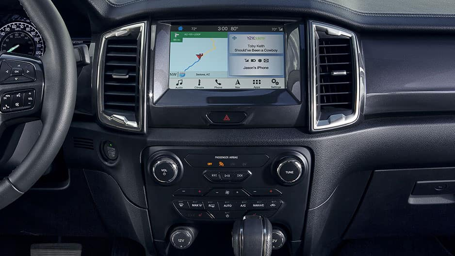 Technology Features of the New Ford Ranger at Garber in Jacksonville, FL