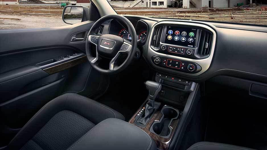 Interior Features of the New GMC Canyon at Garber in Orange-Park, FL