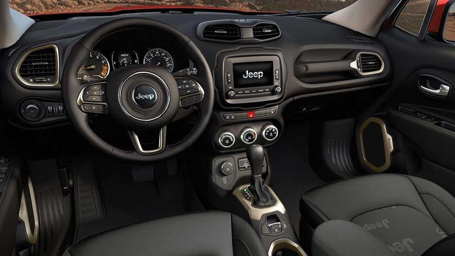 Interior Features of the New Jeep Renegade at Garber in Orange-Park, FL