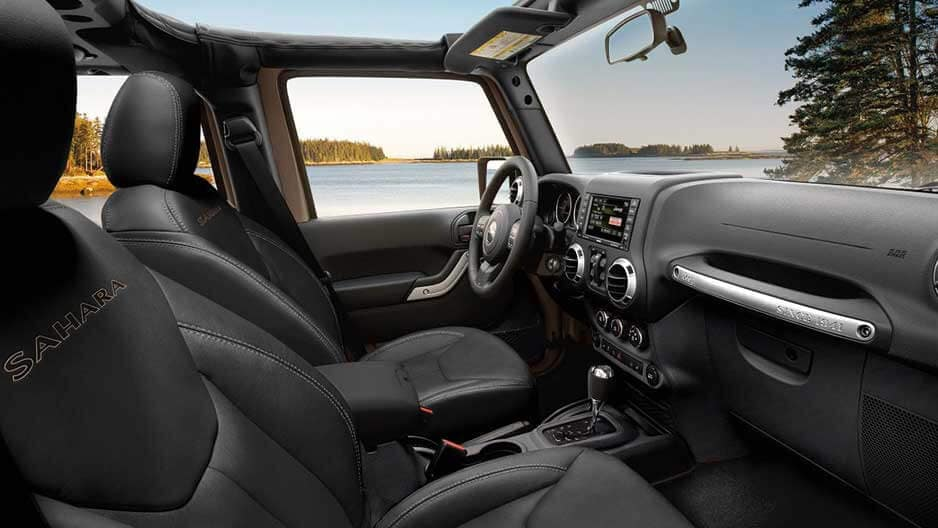 Interior Features of the New Jeep Wrangler at Garber in Orange-Park, FL