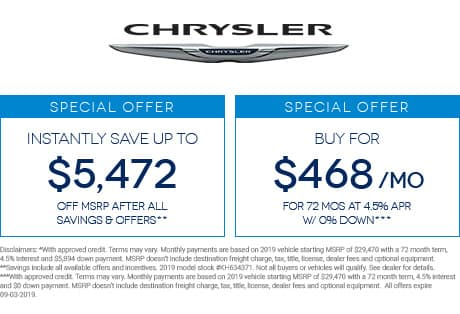 New Chrysler 300® Inventory, Reviews & Specials in