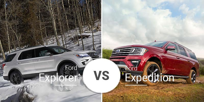 2019 Ford Explorer Vs 2018 Expedition Three Row Titans