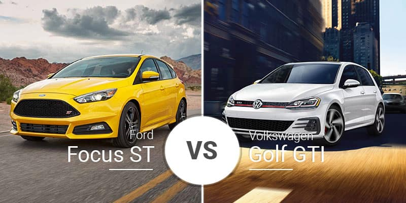 Ford Focus ST Vs  Volkswagen Golf GTI: Hot-Hatch Slugfest