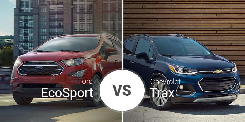 Chevy Trax Vs Ford Ecosport Little Crossovers In A Big Battle