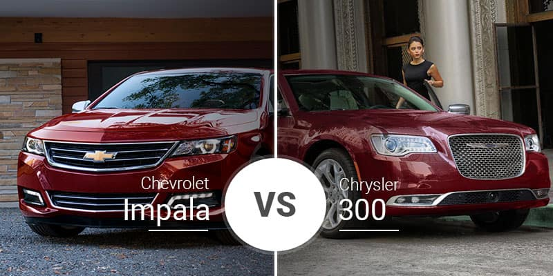 Chevy Impala Vs Chrysler 300 Big Sedan Shootout