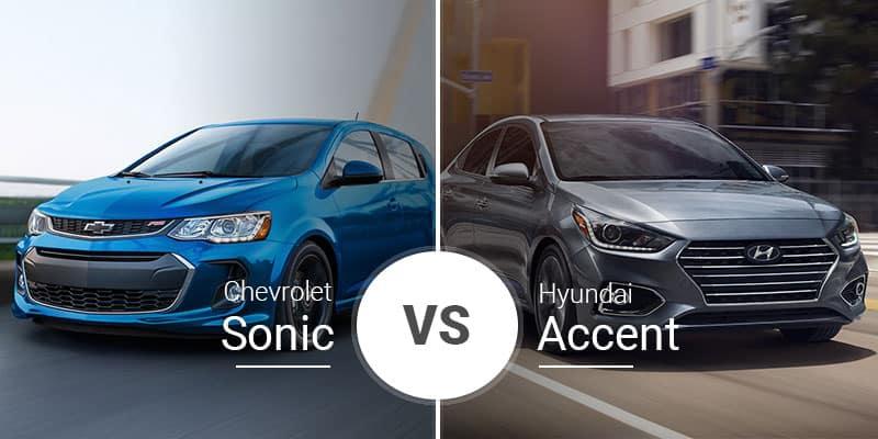 Chevy Sonic Vs Hyundai Accent Small Footprints Big Value