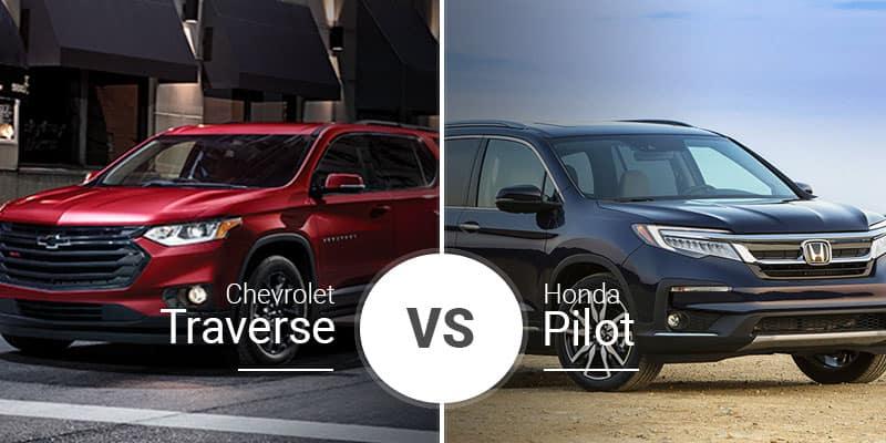 Chevy Traverse Vs  Honda Pilot: Three-Row Crossover Competition