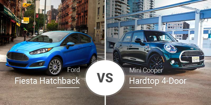 Ford Fiesta Hatchback Vs Mini Cooper 4 Door Hardtop
