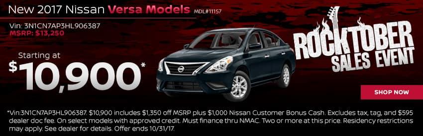 New 2017 Nissan Versa Models Charlotte NC