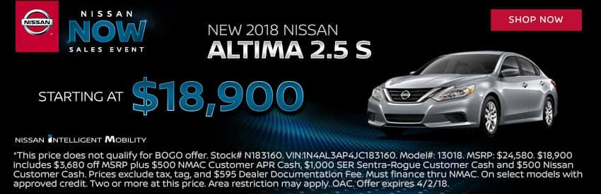 New 2018 Nissan Altima Gastonia NC