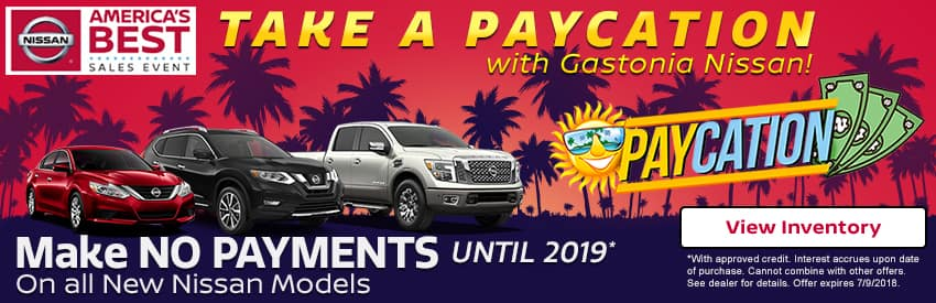 No payments until 2019 in Gastonia NC