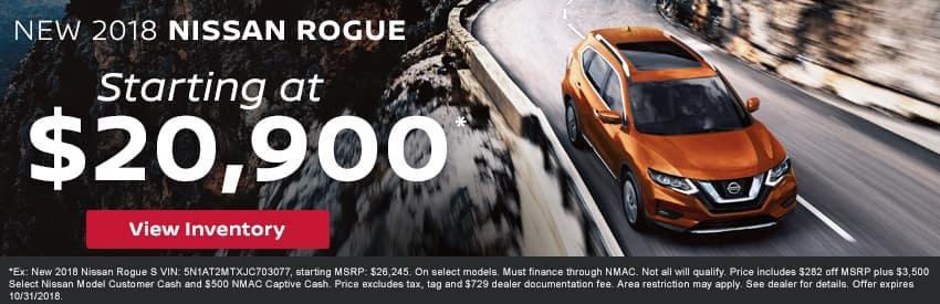 New 2018 Nissan Rogue Gastonia NC