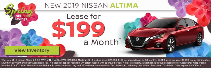 e94ad04635 New 2019 Nissan Altima