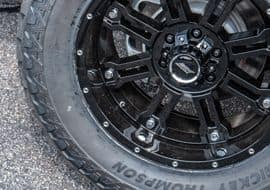 Custom Rocky Ridge Nissan Vehicle Exterior Closeup of Wheel