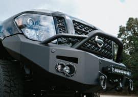 Custom Rocky Ridge Nissan Vehicle Exterior Closeup of Front Angle