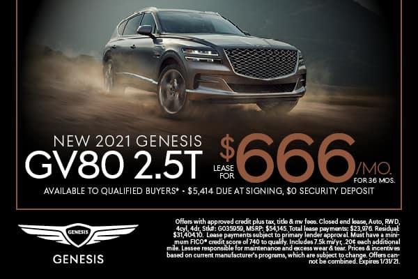 NEW 2021 GENESIS GV80 2.5T