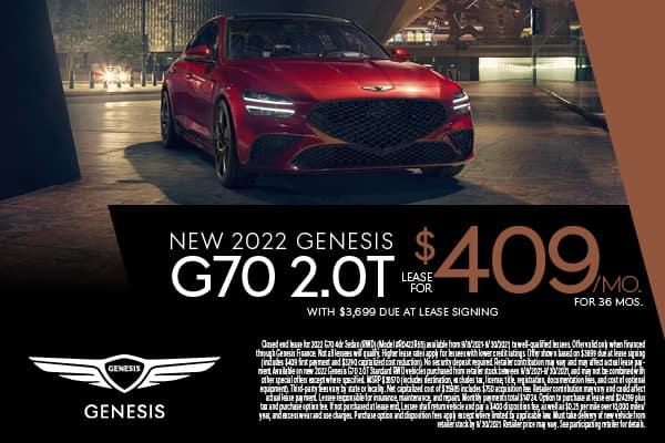 New 2022 Genesis G70 2.0T