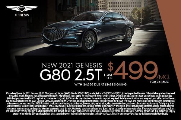 NEW 2021 Genesis G80 2.5T