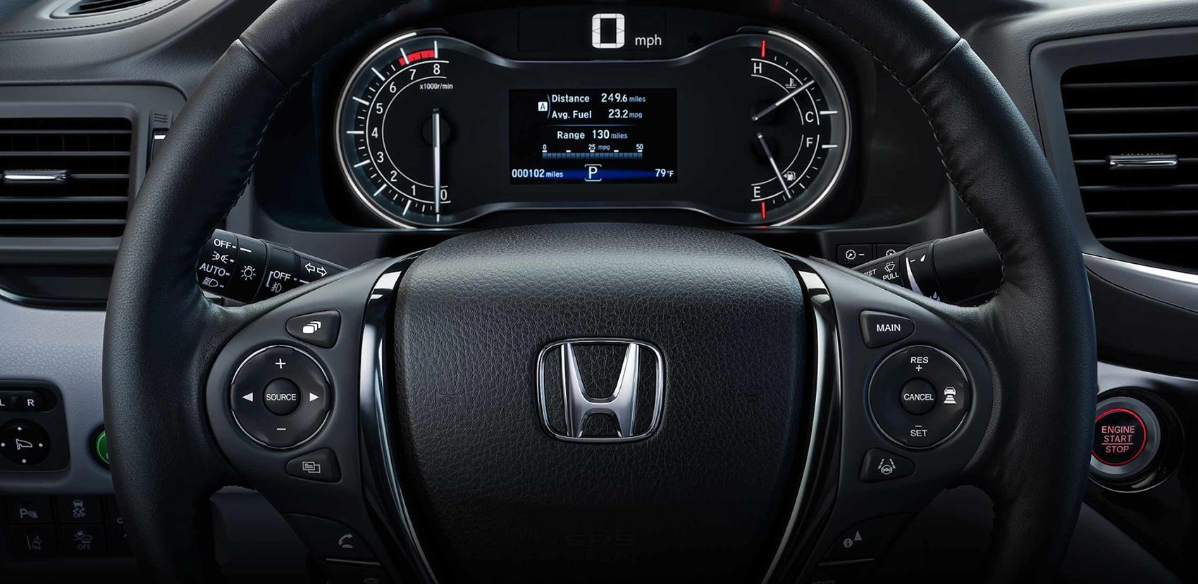 2019 Honda Ridgeline Dashboard Display