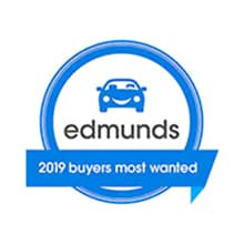 Edmunds: 2019 Buyers Most Wanted Award