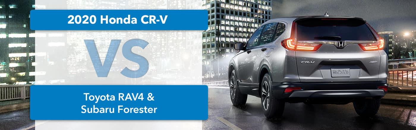 2020 Honda CR-V vs. Toyota RAV4 vs Subaru Forester