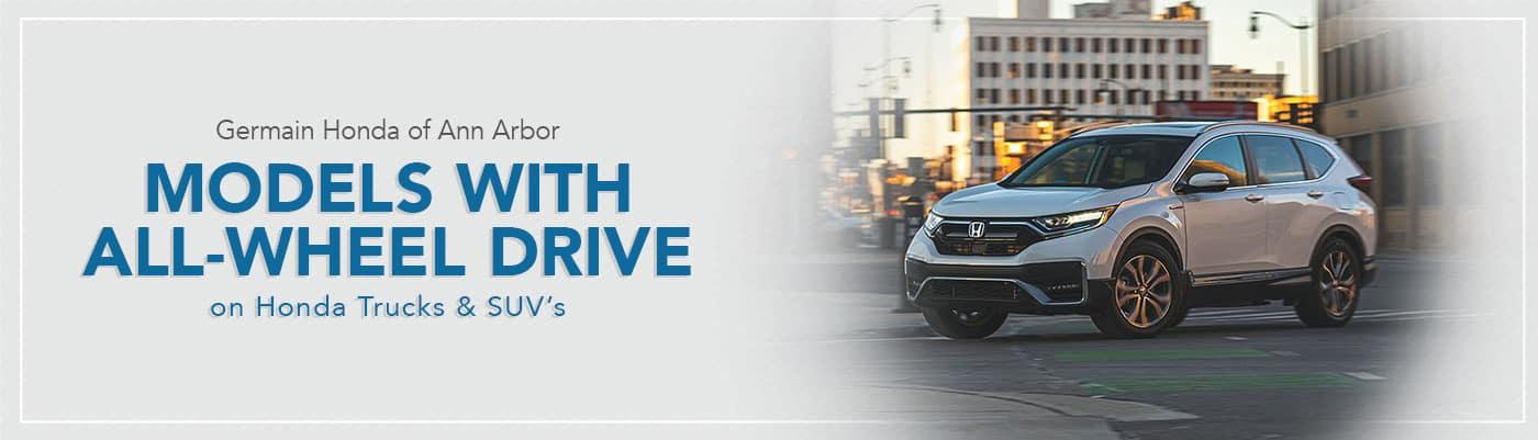 Honda Vehicles All-Wheel Drive