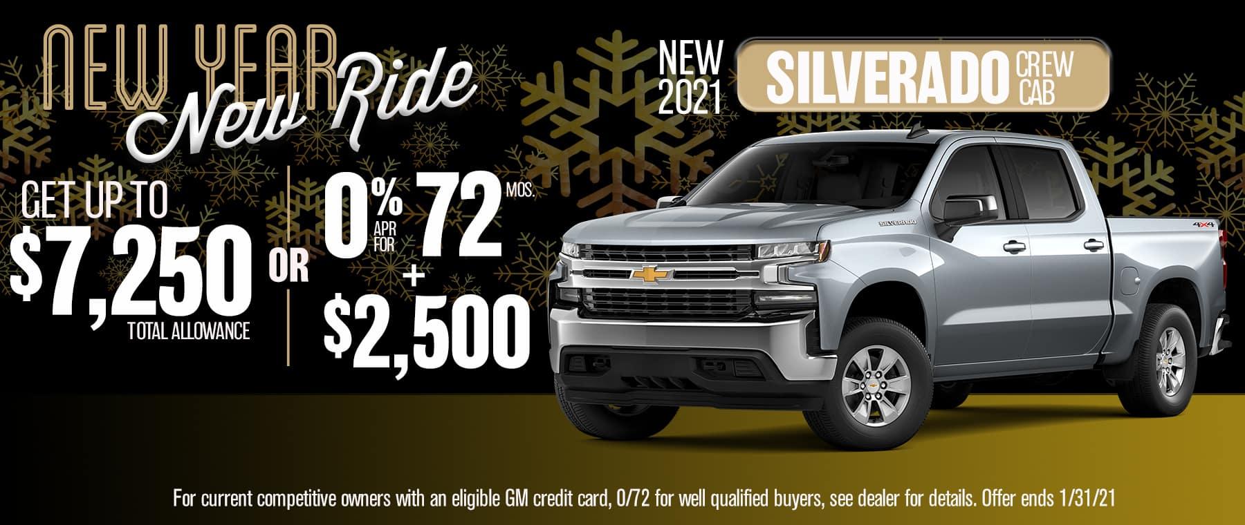 2021 CHEVY SILVERADO CREW CAB