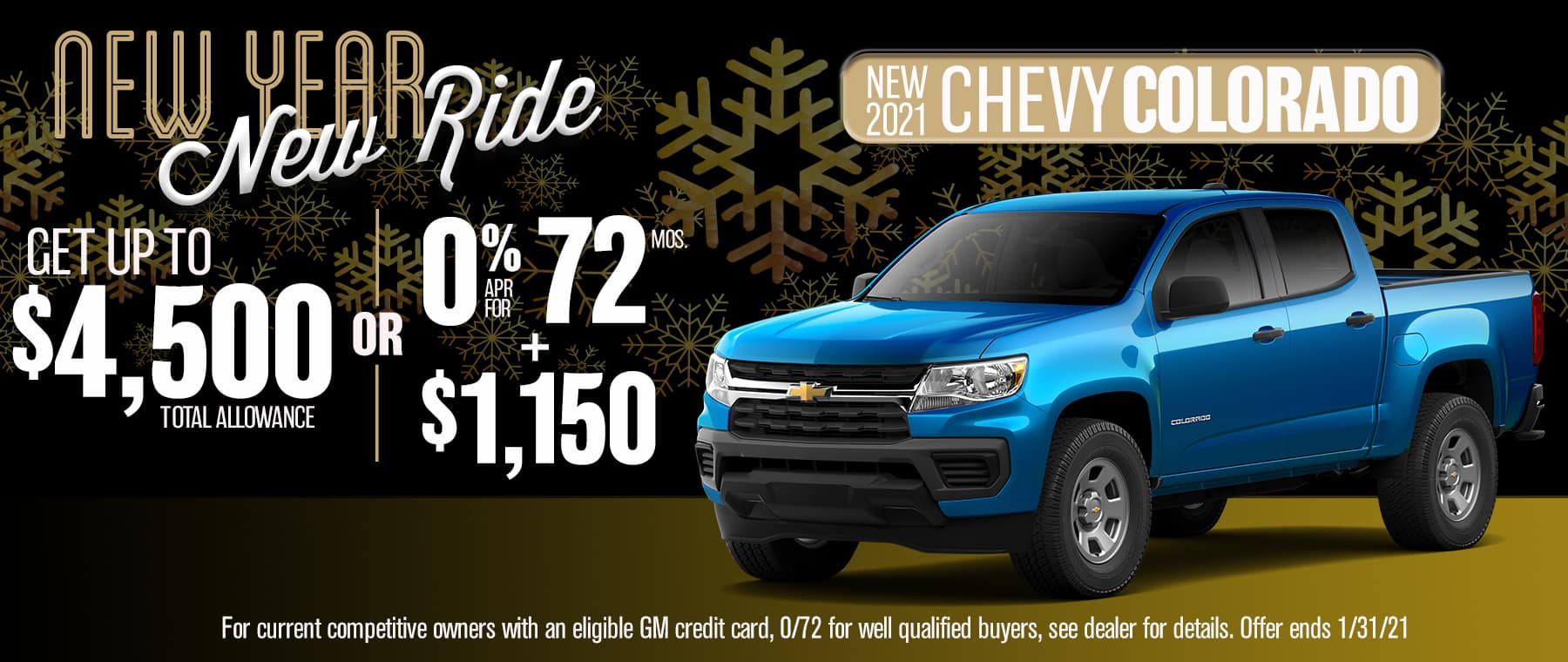 New 2021 Chevy Colorado