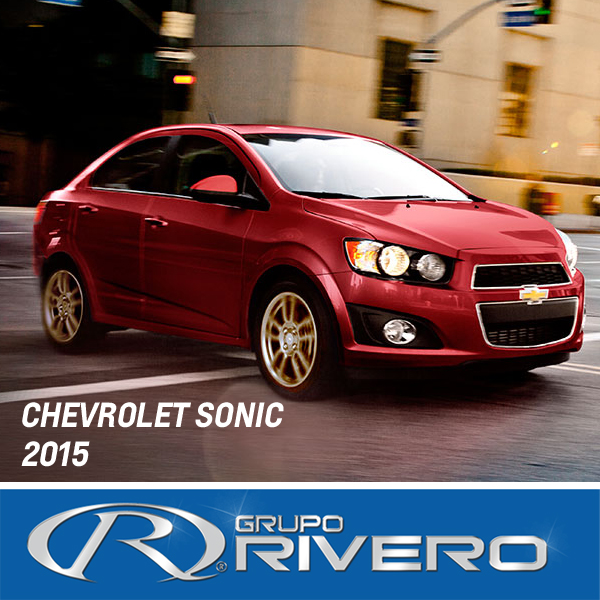 chevrolet sonic 2015 llega a monterrey en grupo rivero. Black Bedroom Furniture Sets. Home Design Ideas