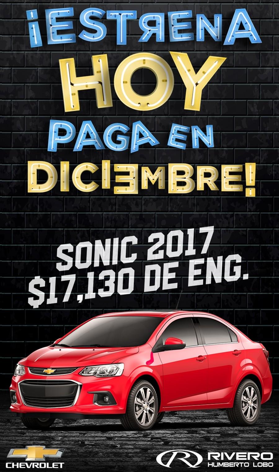 Chevrolet Grupo Rivero Sonic 2017 En Monterrey