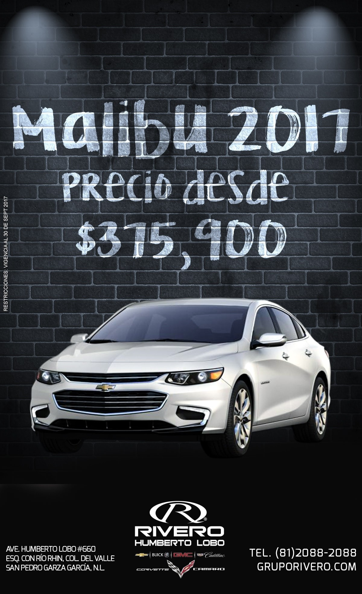 Chevrolet Rivero Humerto Lobo Malibu 2017 Monterrey