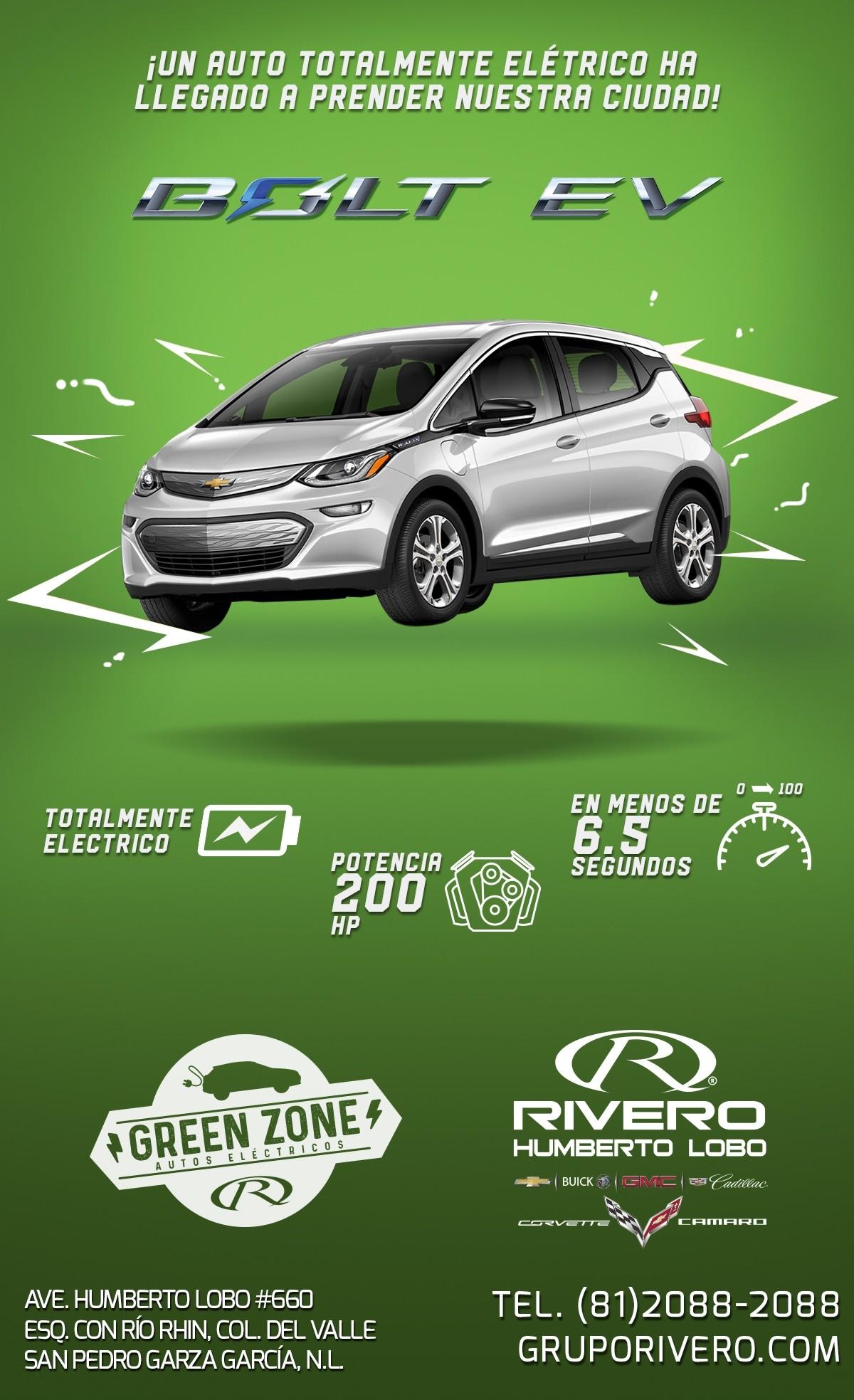 Chevrolet Bolt EV 2017 Autos Eléctricos En Monterrey