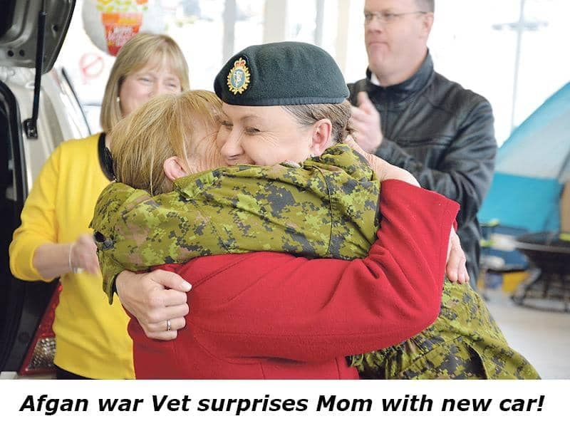 A VERY PROUD DAY AT HICKMAN MOTORS IN ST. JOHN'S - Hickman Chevrolet Cadillac was proud to be on hand to help surprise an Afghan war veterans mother with a brand new car! We hope that this surprise was worth the wait!  Thank you to everyone who helped organize this wonderful event.