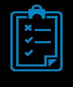 Checklist on a clipboard icon