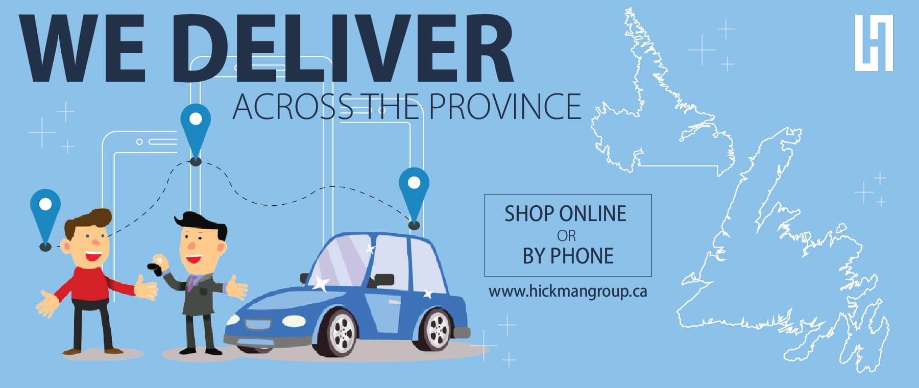 We Deliver across the Province – Website Banner-01