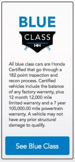 Used Car Class System
