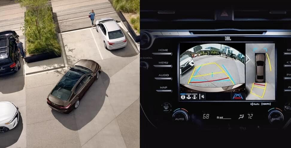 2018 Camry Safety Feature rear camera