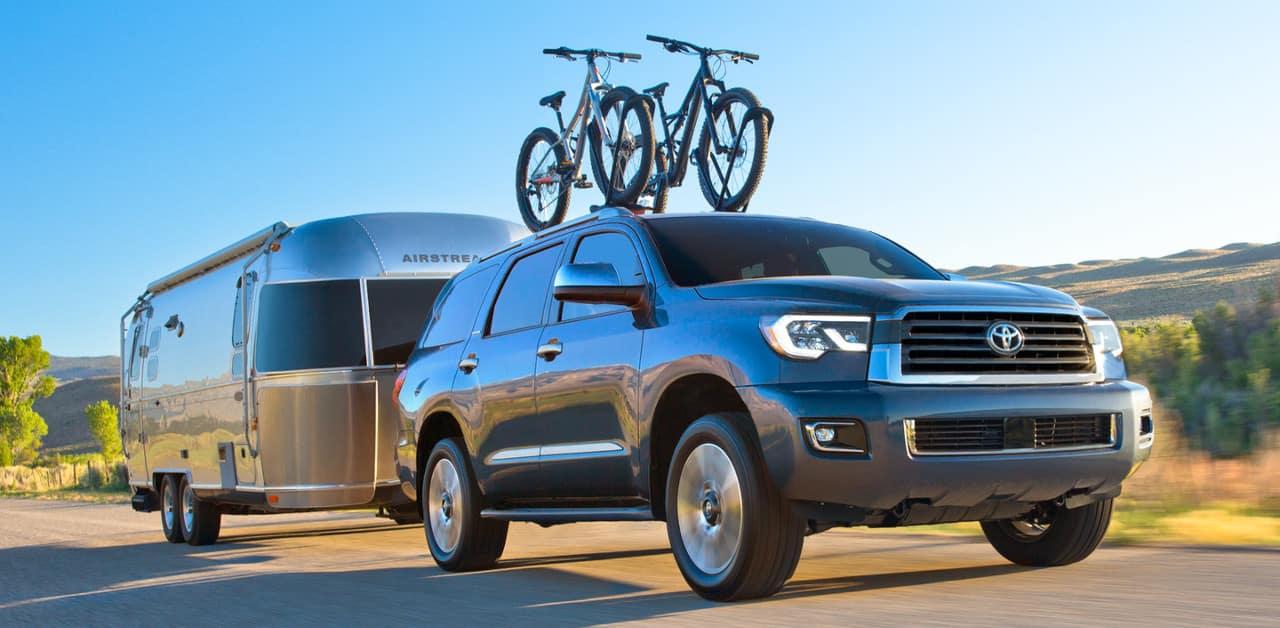 2018 Toyota Sequoia pulling camper