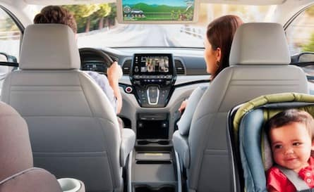 Passenger space in the 2018 Honda Odyssey