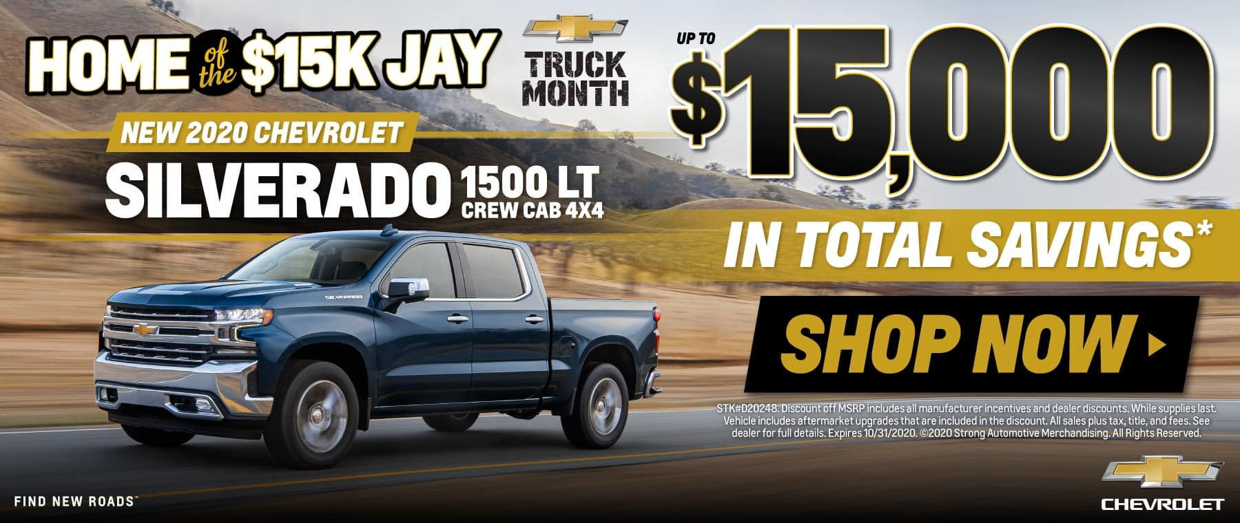 New 2020 Chevrolet Silverado up to $15,000 in Total Savings - SHOP NOW
