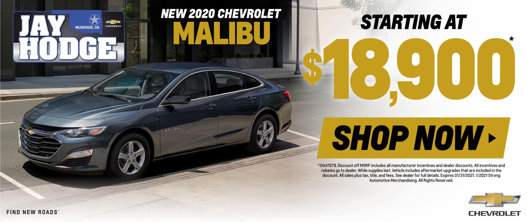 New 2020 Chevrolet Malibu - Starting at $18,900 - Shop Now