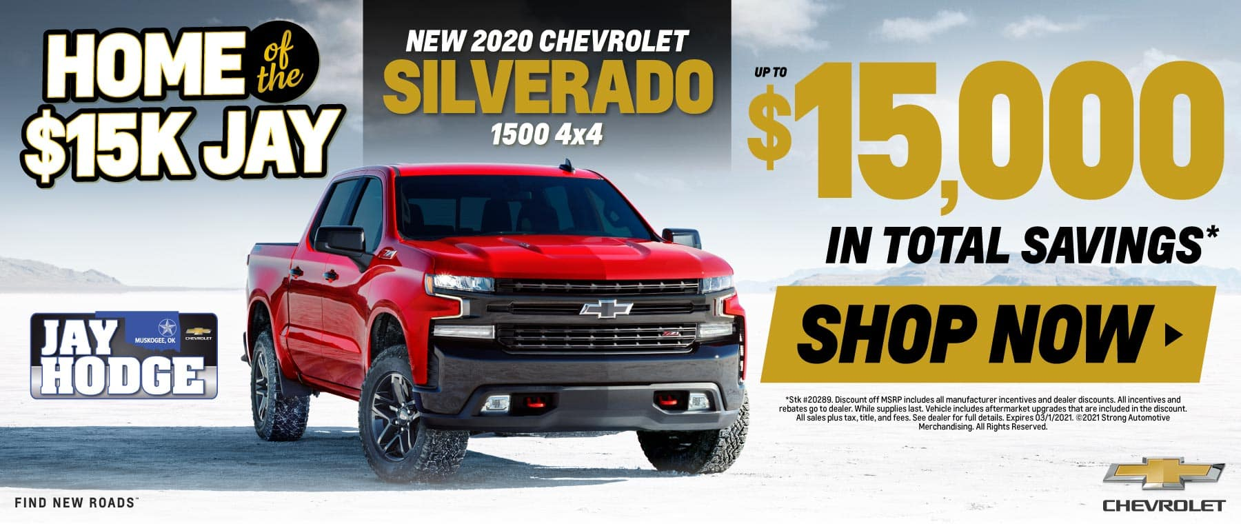 New 2020 Chevrolet Silverado - Up to $15,000 in total savings - Shop Now