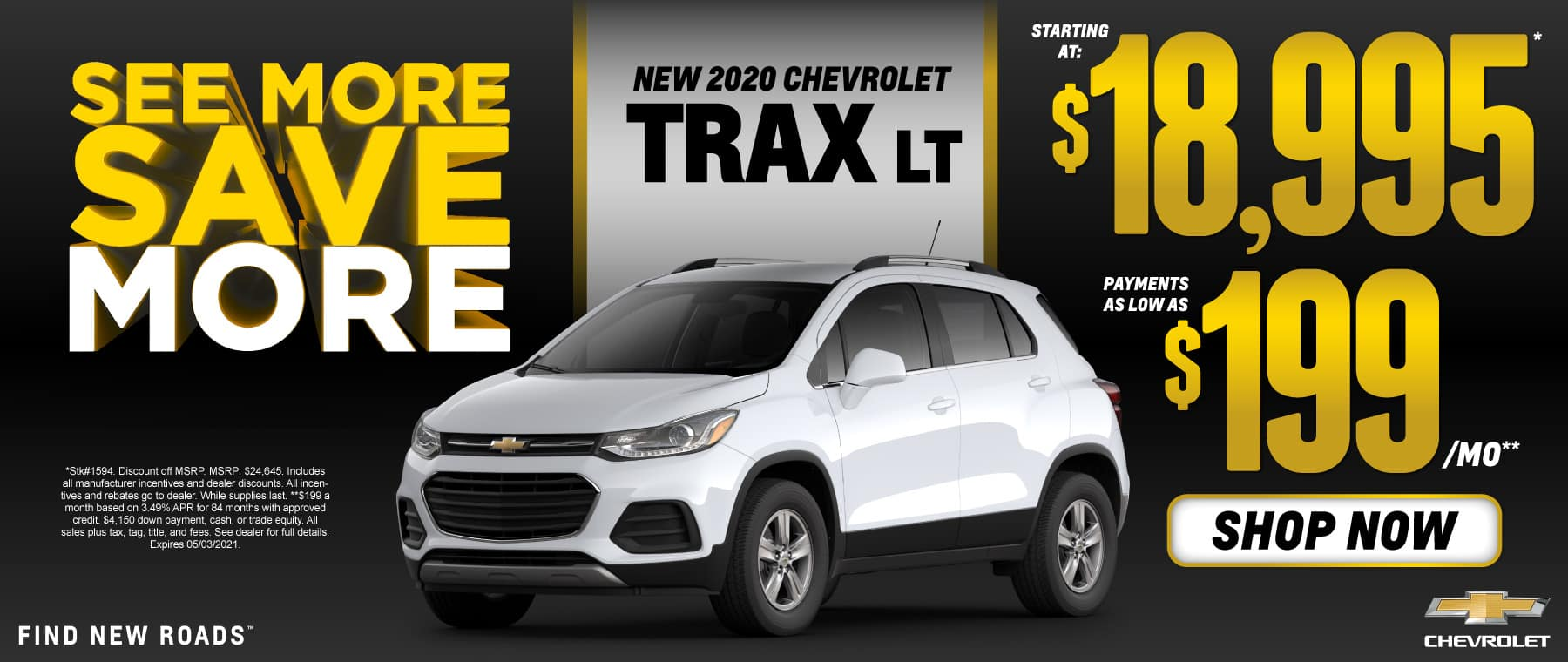 New 2020 Chevy Trax - $18,995 - Shop Now