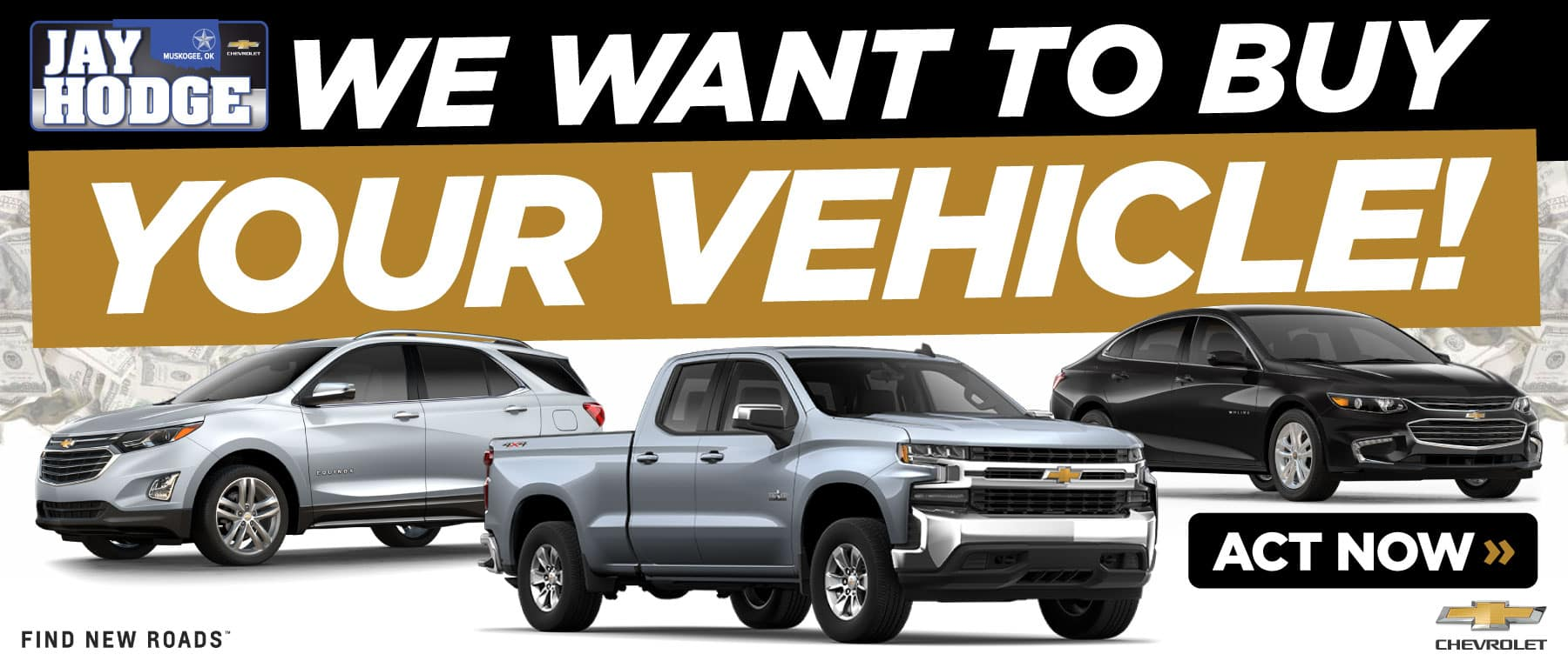 We want to buy Your Vehicle – ACT NOW!