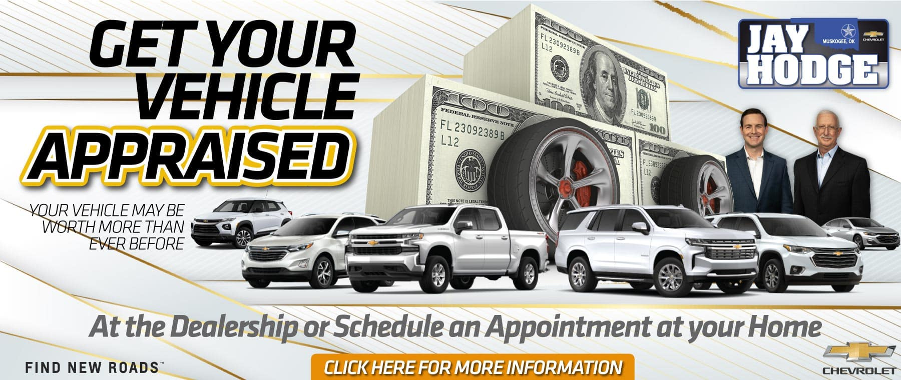 Get Your Vehicle Appraised - Click for More Information