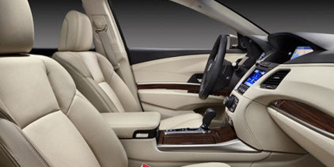 2016 Acura RLX front leather seats