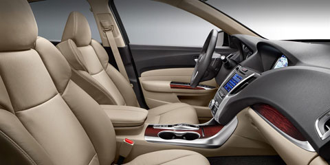 2015 Acura TLX Front Seating