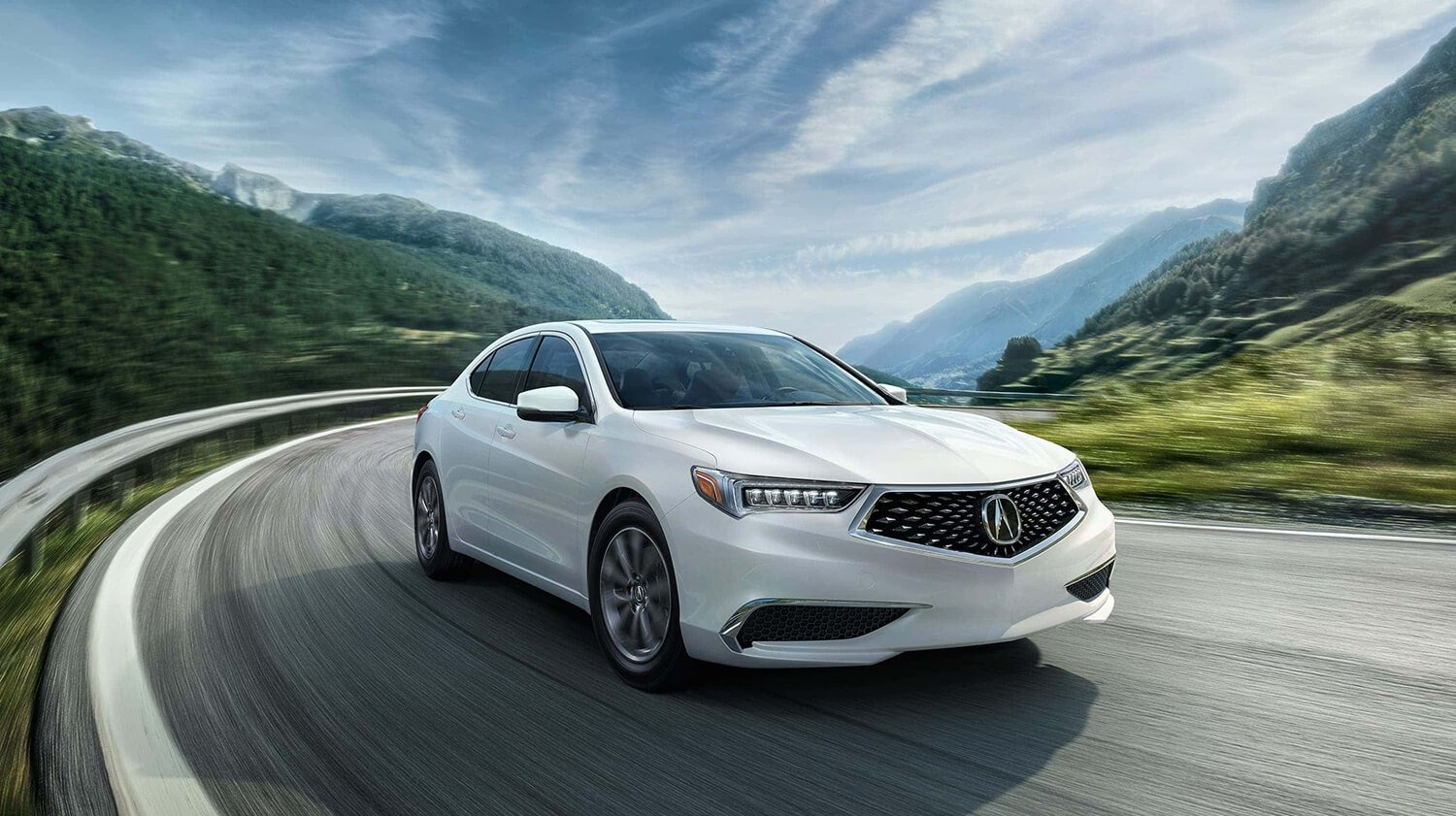 2018 Acura TLX Exterior Front Passenger Side White