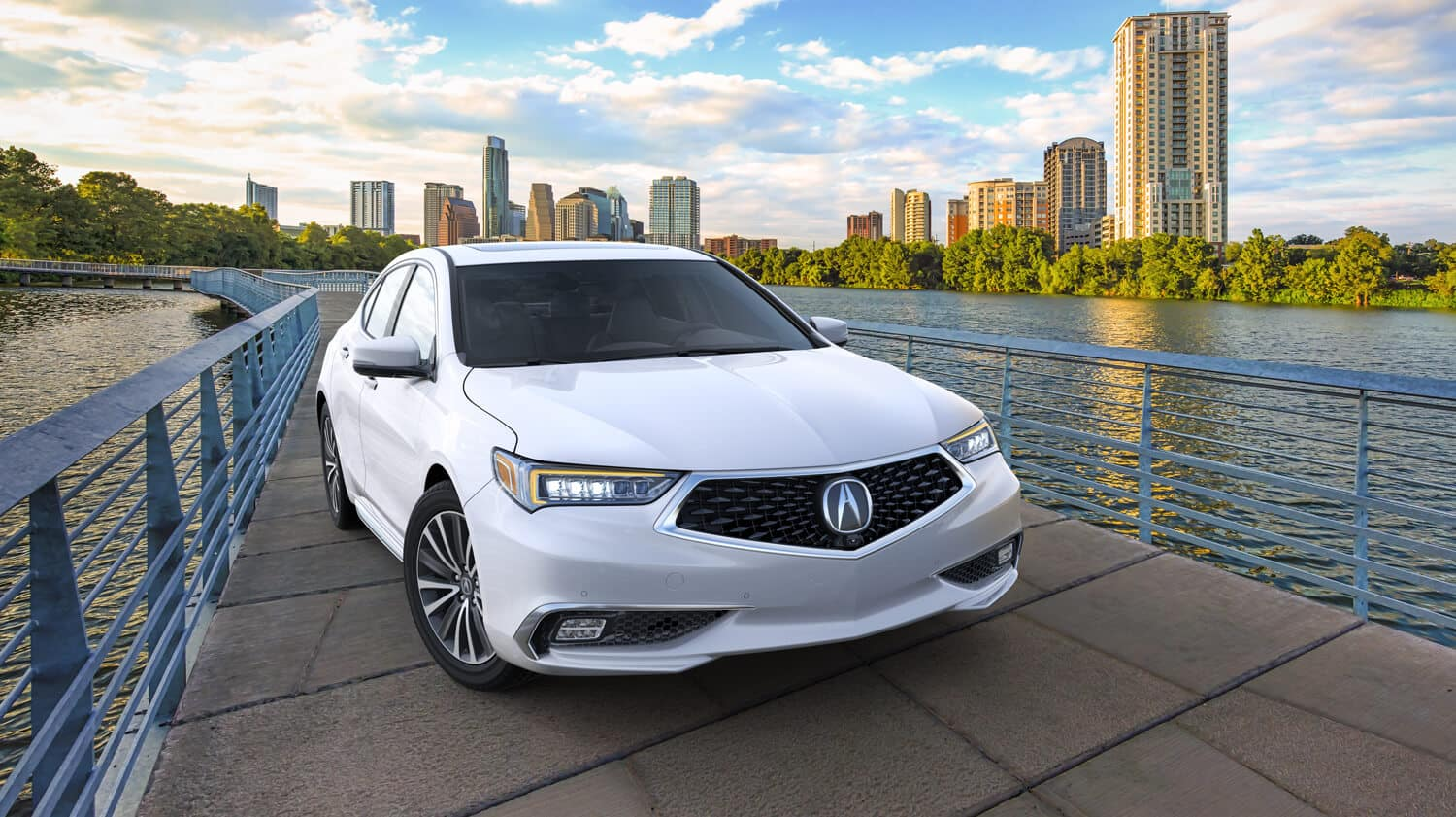 2019 Acura TLX Exterior City Waterfront Passenger Side