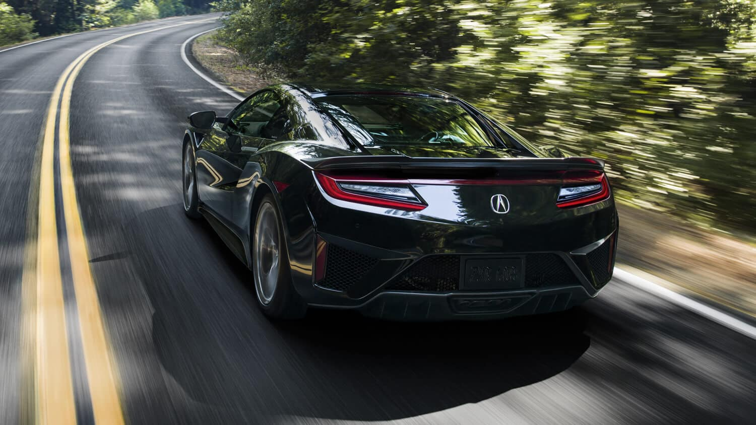 2018 Acura NSX Exterior Rear Angle Forest